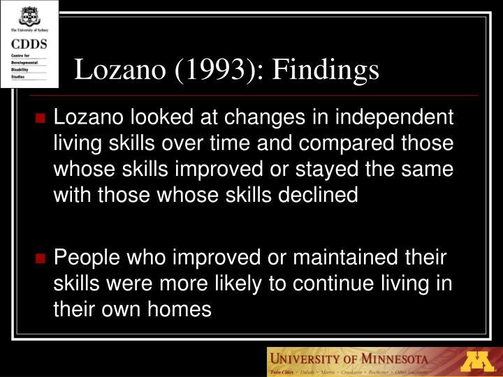 Lozano (1993):