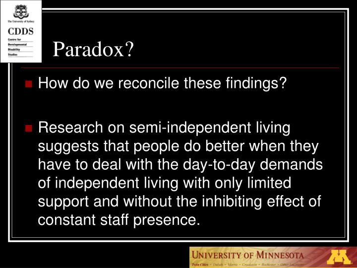 Paradox?