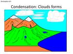 condensation clouds forms