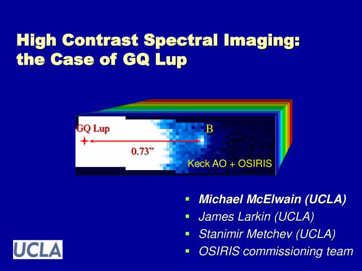 high contrast spectral imaging the case of gq lup n.