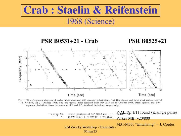 Crab : Staelin & Reifenstein