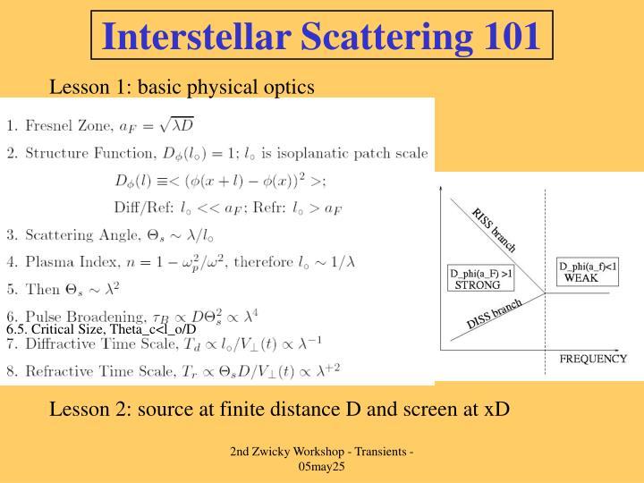 Interstellar Scattering 101
