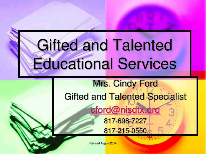 gifted and talented educational services n.