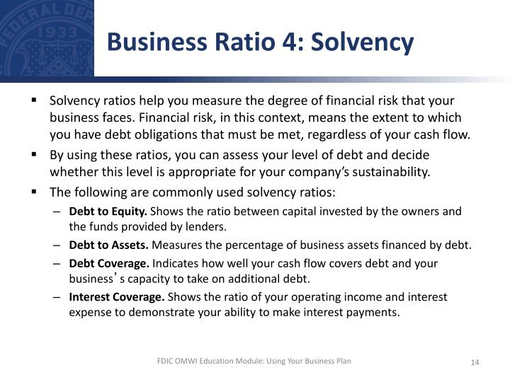 Business Ratio 4: Solvency