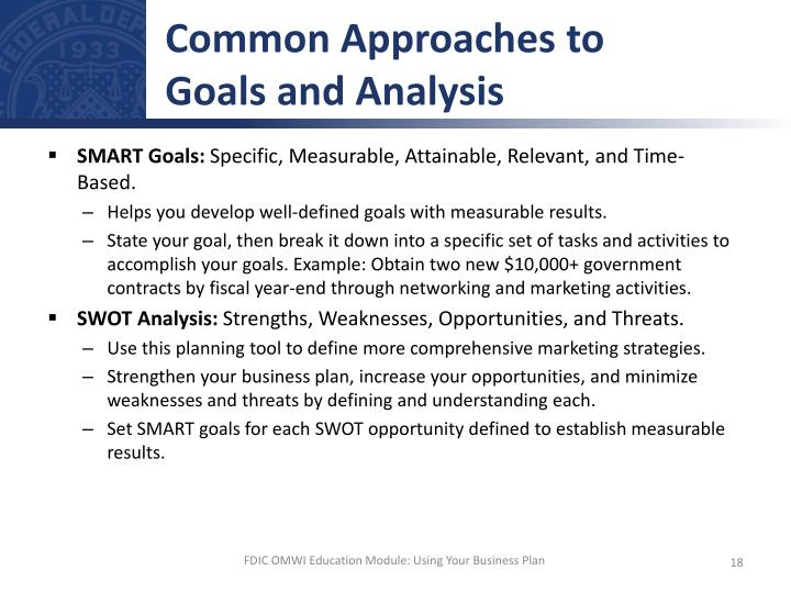 Common Approaches to
