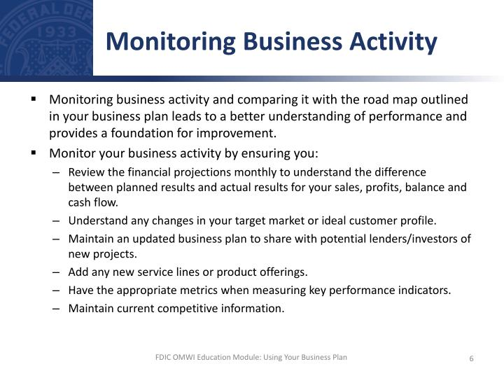 Monitoring Business Activity