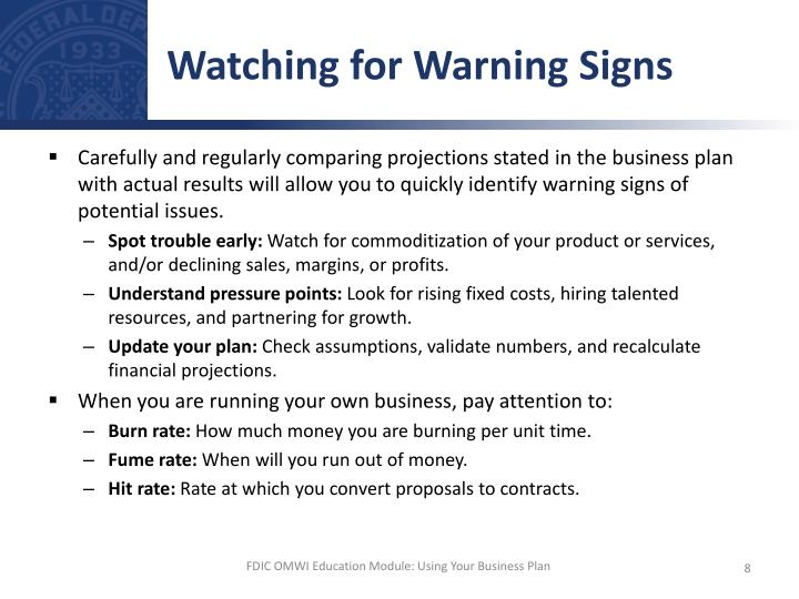 Watching for Warning Signs