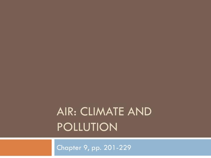 air climate and pollution n.