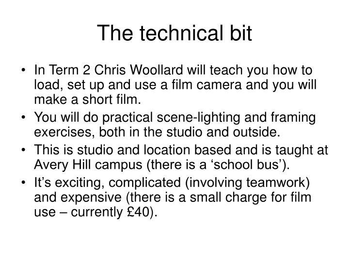 The technical bit