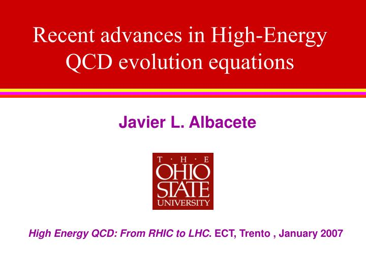 recent advances in high energy qcd evolution equations n.