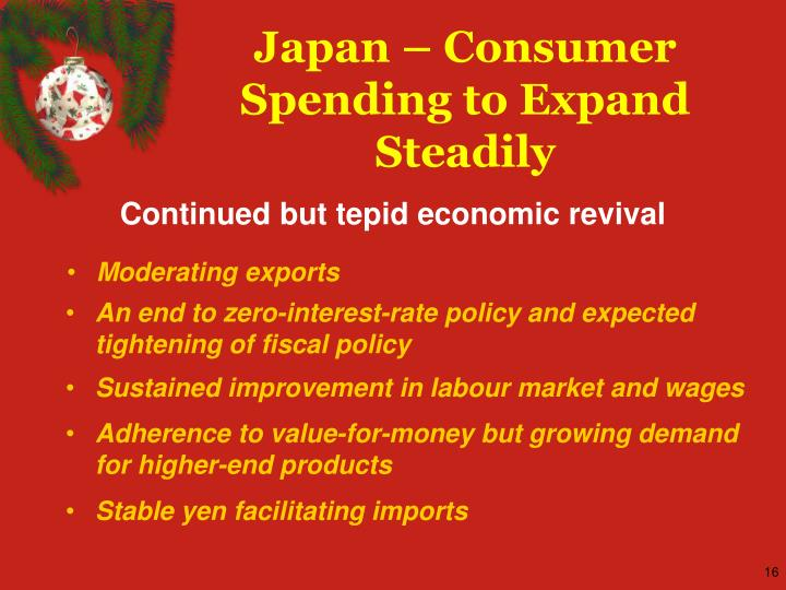 Japan – Consumer Spending to Expand Steadily