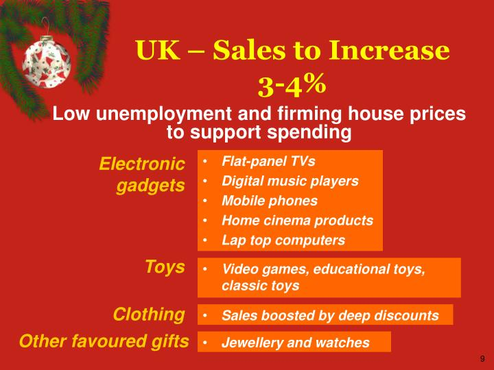 UK – Sales to Increase 3-4%