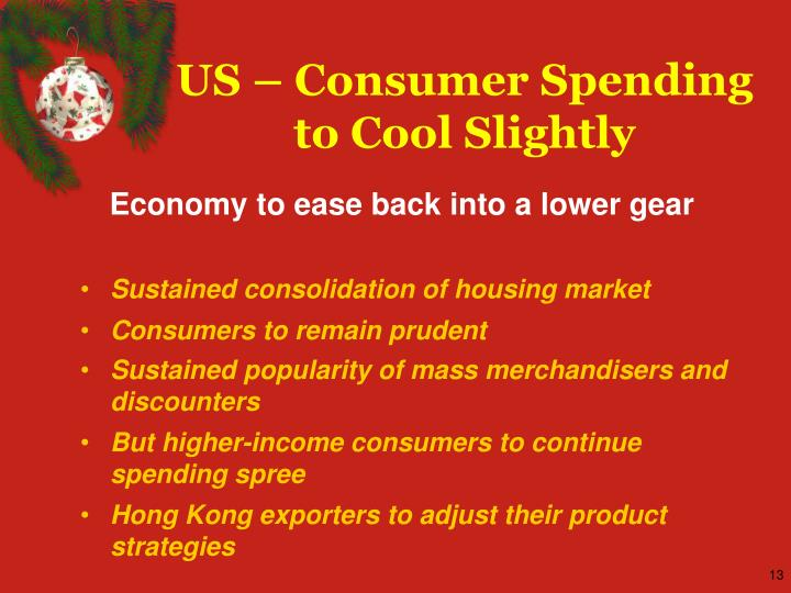 US – Consumer Spending to Cool Slightly