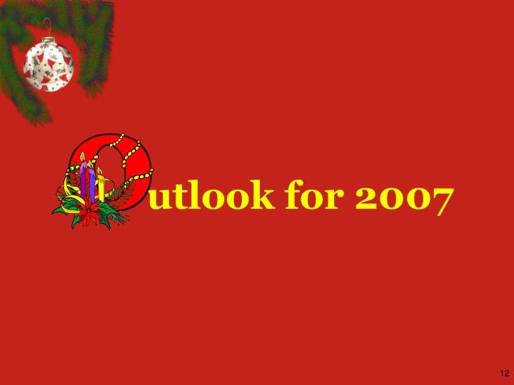 utlook for 2007