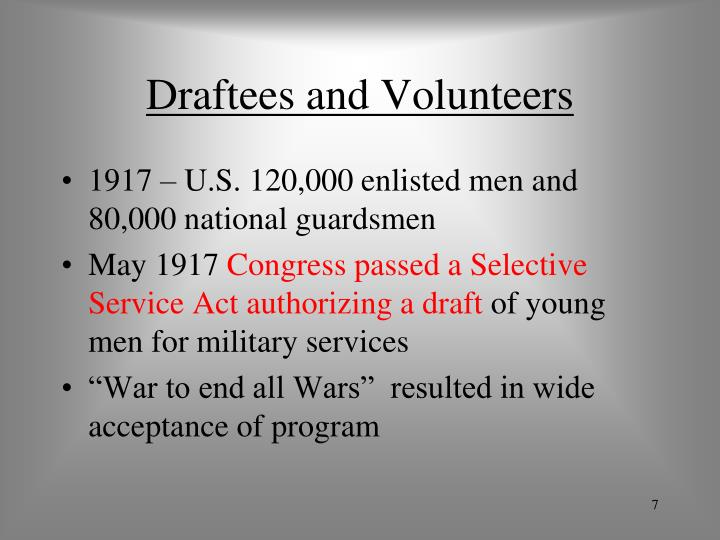 Draftees and Volunteers