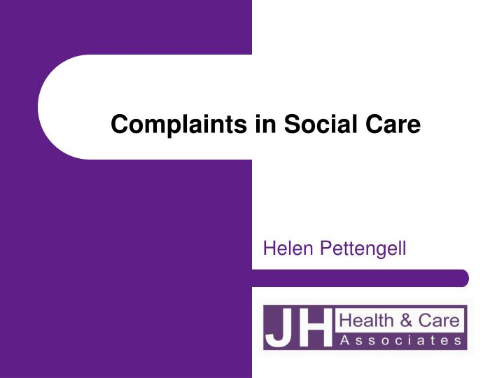 complaints in social care n.