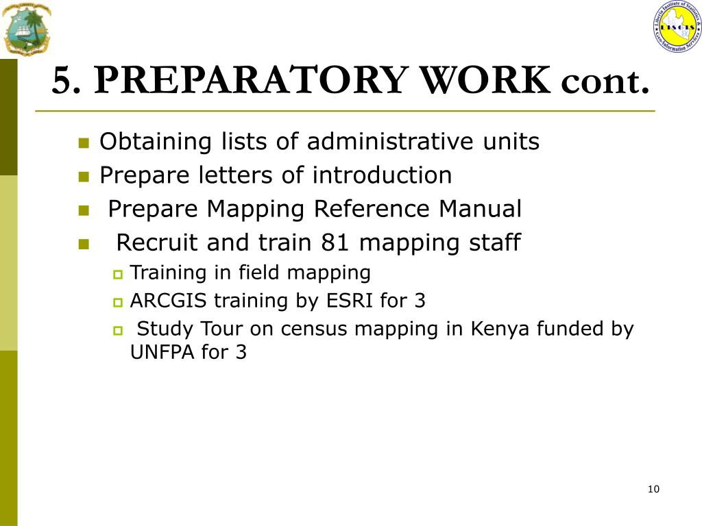 PPT - THE CENSUS CARTOGRAPHY Organization And Progress