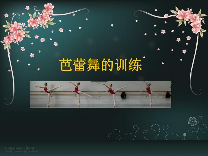 芭蕾舞的训练