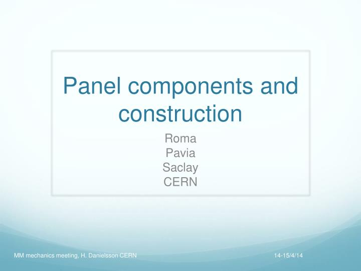 panel components and construction n.