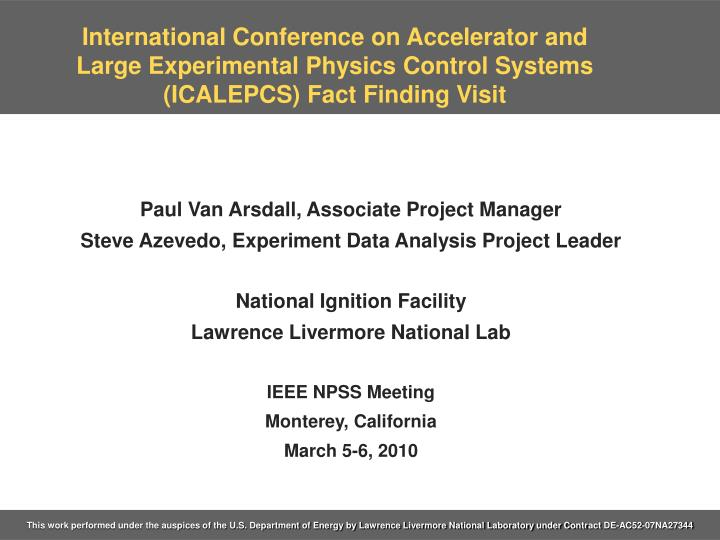 International Conference on Accelerator and