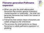 filename generation pathname expansion