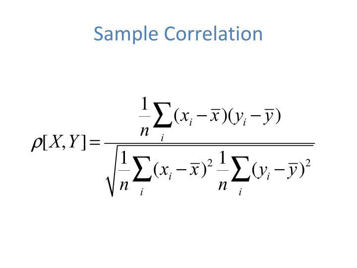 Sample correlation