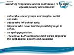 grundtvig programme and its contribution to the fight against poverty and exclusion