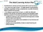 the adult learning action plan