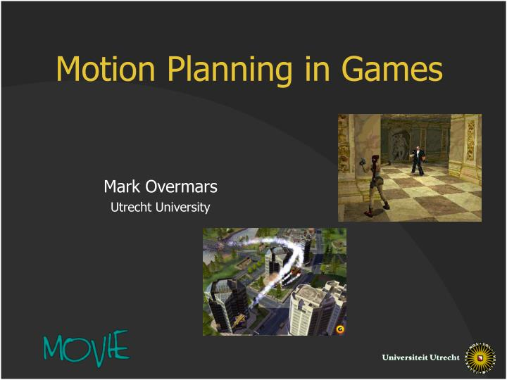 motion planning in games n.