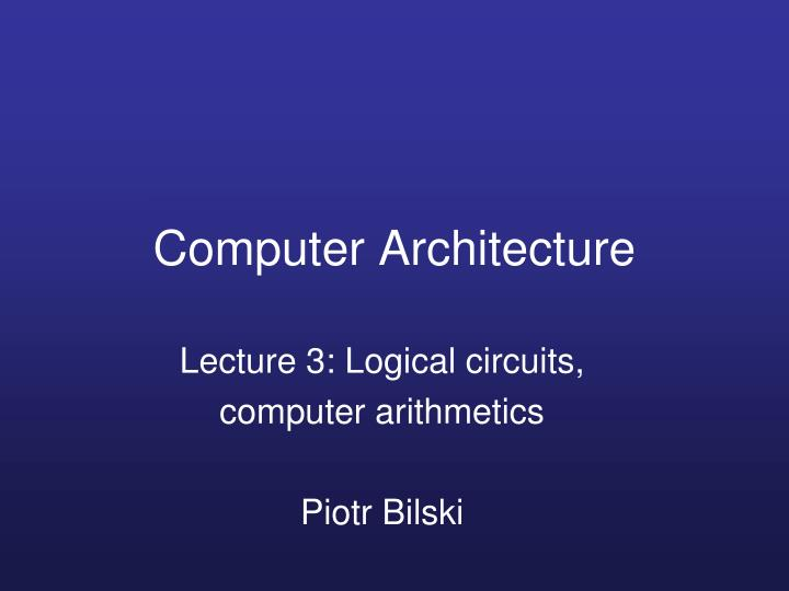 computer architecture n.