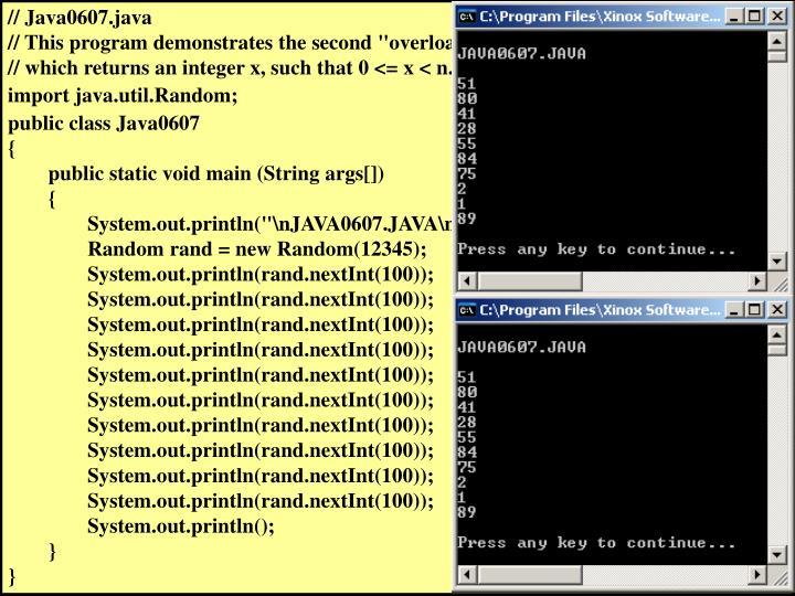 // Java0607.java