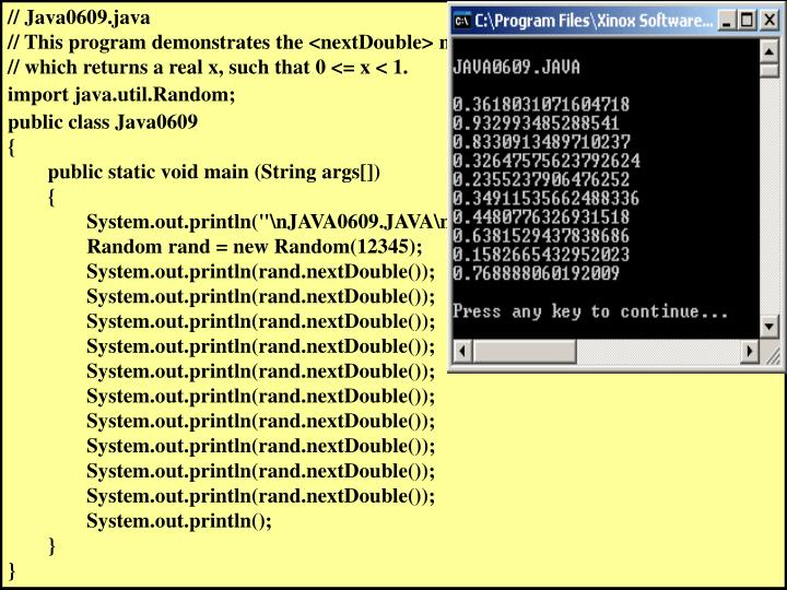 // Java0609.java