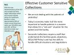 effective customer sensitive collections