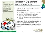 emergency department co pay collections