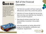 roll of the financial counselor