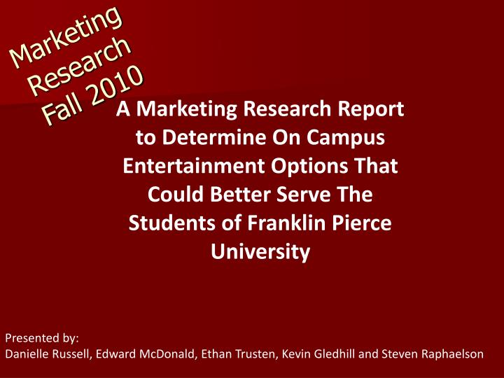 marketing research fall 2010 n.