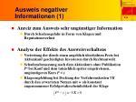ausweis negativer informationen 1
