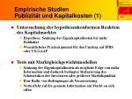 empirische studien publizit t und kapitalkosten 1