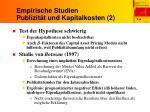 empirische studien publizit t und kapitalkosten 2