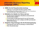 extensible business reporting language xbrl