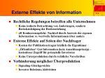 externe effekte von information