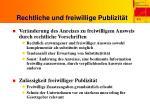 rechtliche und freiwillige publizit t