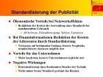 standardisierung der publizit t