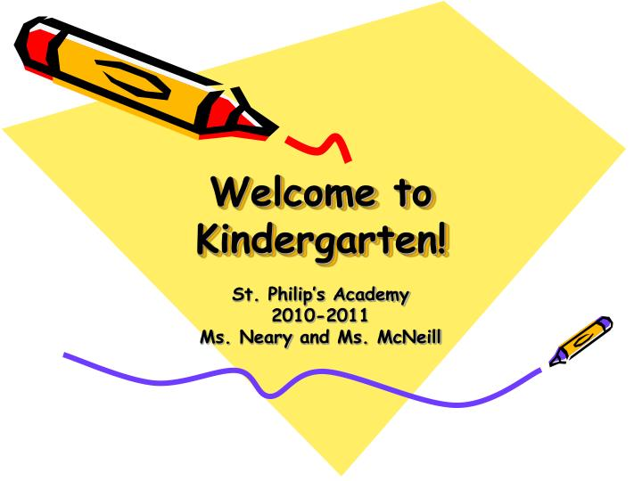 welcome to kindergarten n.