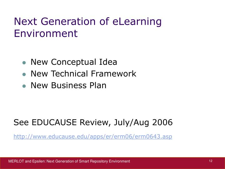 Next Generation of eLearning Environment