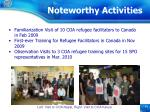 noteworthy activities