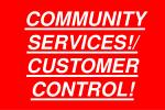 community services customer control