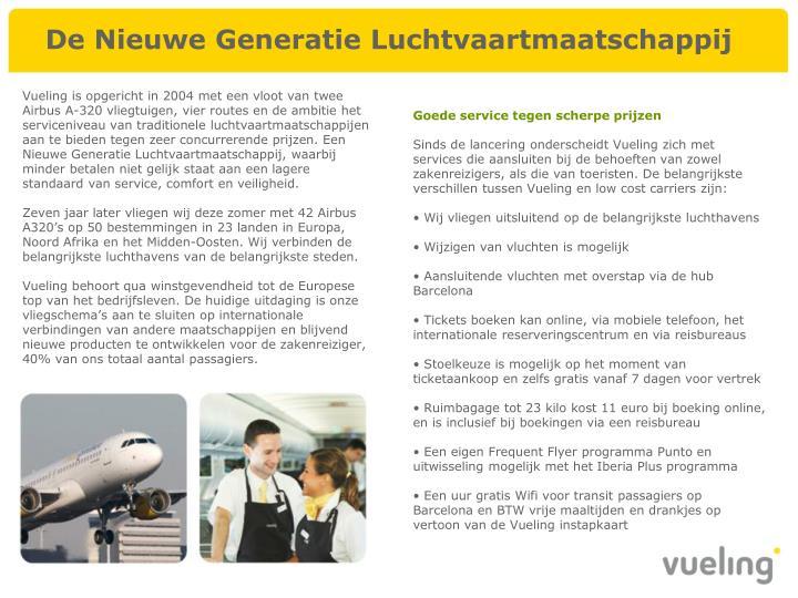 De Nieuwe Generatie Luchtvaartmaatschappij