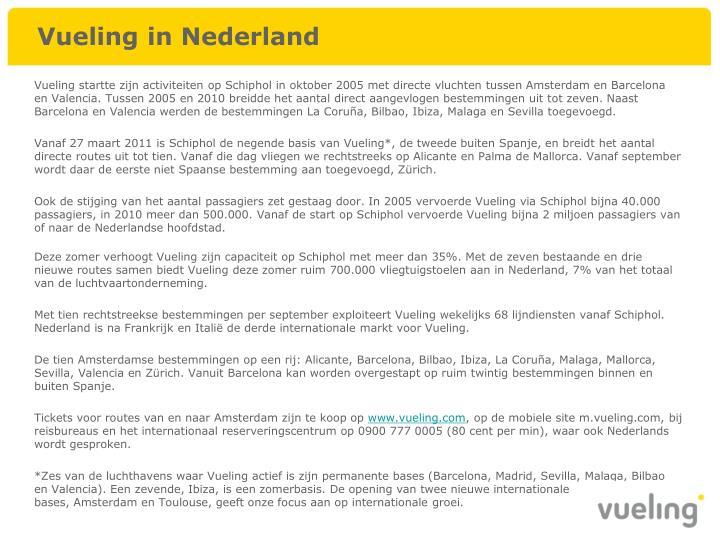 Vueling in Nederland