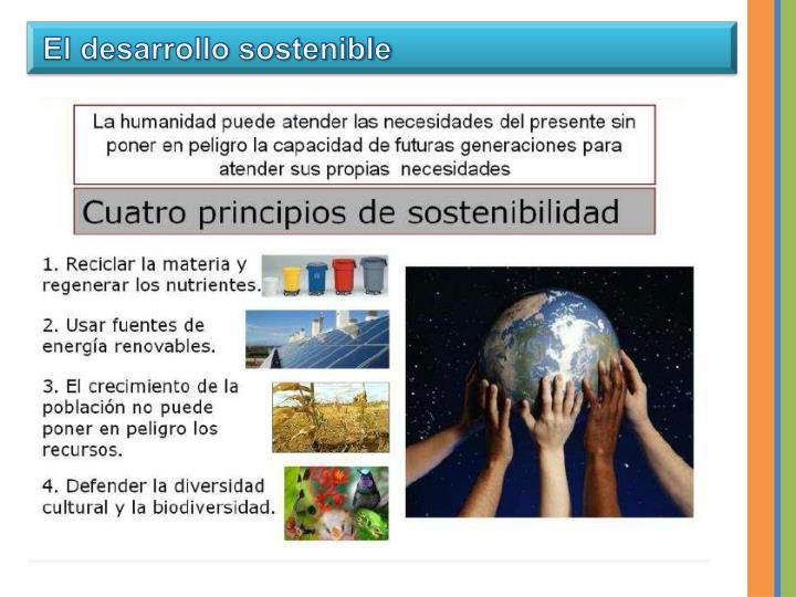 El desarrollo sostenible